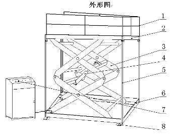 剪叉式升降机的基本结构与示意图